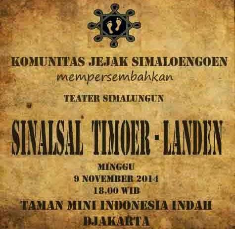 "Event Teater Simalungun "" SINALSAL TIMOER-LANDEN "" November 2014"