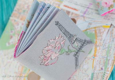 обложка паспорт вышивка эйфелева башня париж
