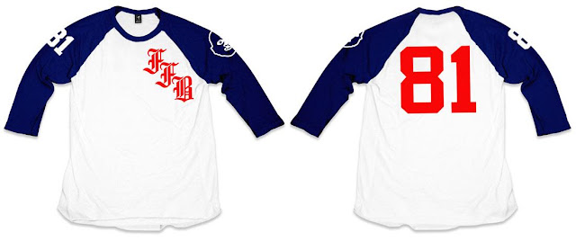"Fur Face Boy 2012 Baseball Series T-Shirt Collection - ""FFB Old English Raglan"""