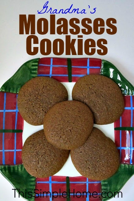 molasses cookies recipe