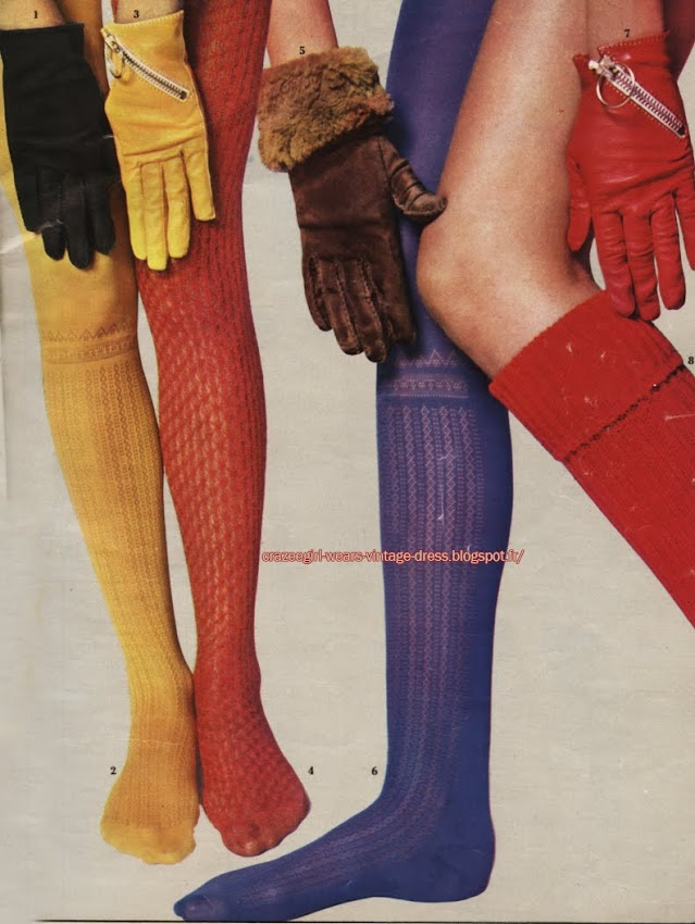 Sock and Gloves - Christian Dior - 1967 1960s 60s 60 zip zipper leather