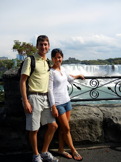 Skyler and I with a view of the American Falls from the Queen Victoria Park in Canada