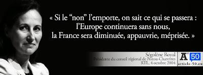 Citation de Ségolène Royal pour le oui à la Constitution Européenne