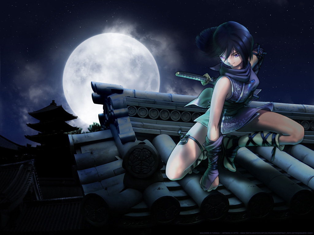 ninja girl wallpaper wallpaper cartoon