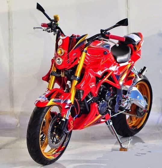 modifikasi motor yahama scorpio monster
