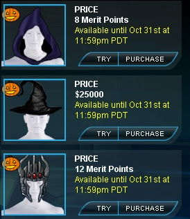 Halloween head gear at Superhero City