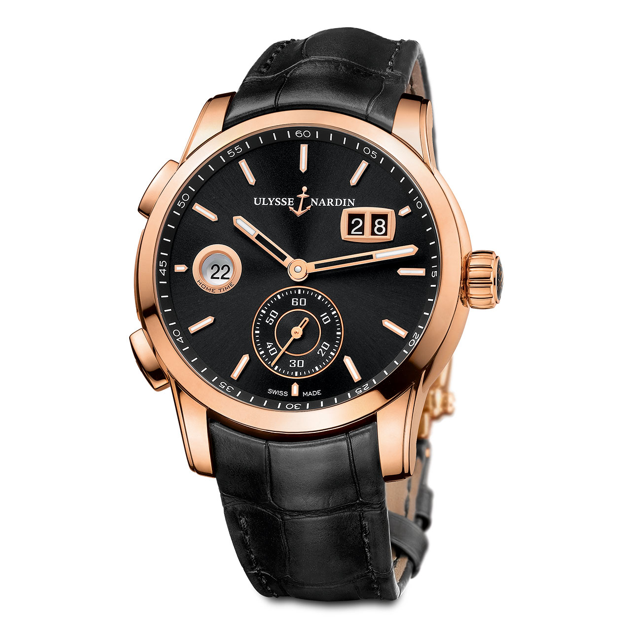 Ulysse Nardin Dual Time Manufacture Watch black dial