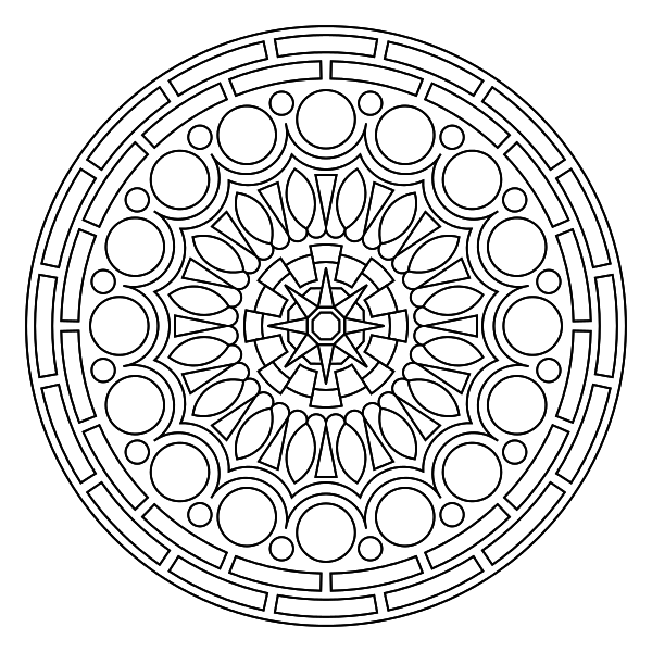 Crochet for meditation colouring mandala with yarn for Circle coloring page