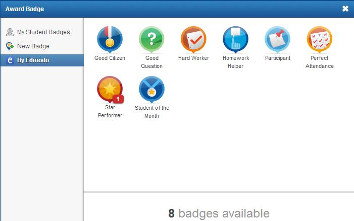 how to create a badge in edmodo