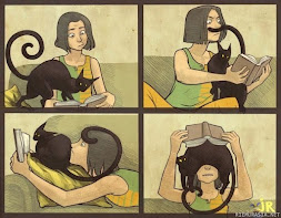 What reading with cats is like!