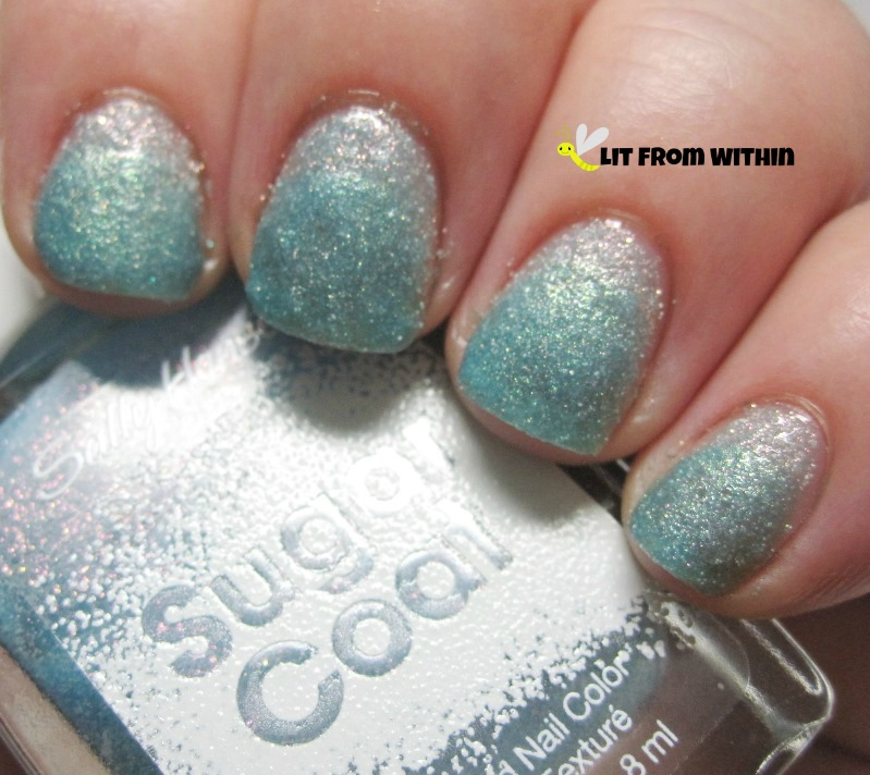 Sally Hansen Sugar Coat in Royal Icing under Sally Hansen Sugar Shimmer Work Of Tart