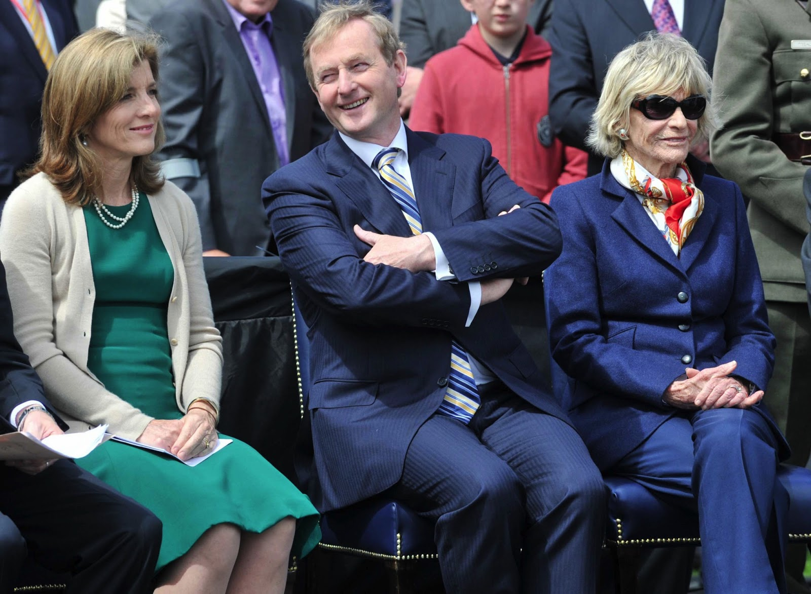 carrying on a family tradition going back to the historical caroline kennedy taoiseach prime minister enda kenny and jean kennedy smith at the
