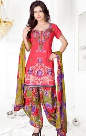 Patiala Salwar with Short Kameez