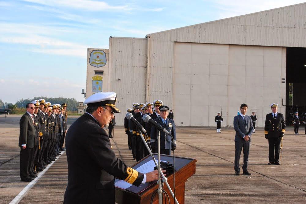 Ceremonia en la Base Aeronaval Punta de Indio