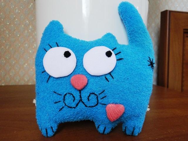 Мягкие игрушка кот своими руками
