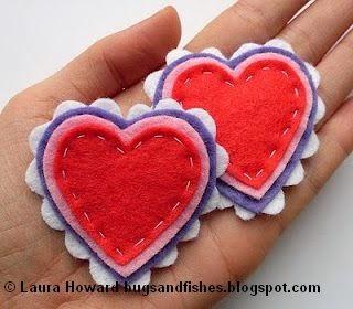 tutorial buat brooch cantik love dan Hati