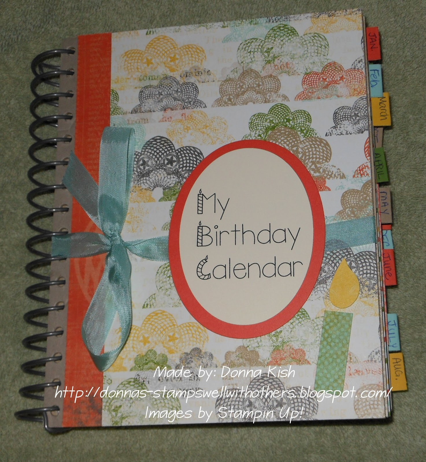 May Calendar Book : Stamps well with others birthday calendar book class