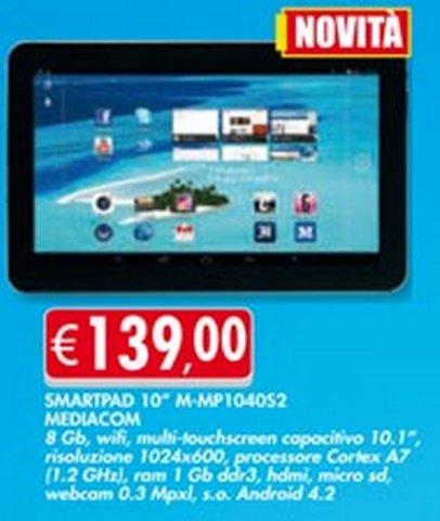 Bennet propone già il nuovo MP1040S2 di Mediacom al prezzo di 139 euro