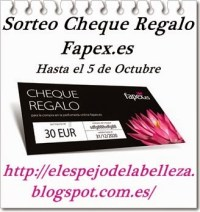 Sorteo Cheque Fapex.es ElEspejoDeLaBelleza