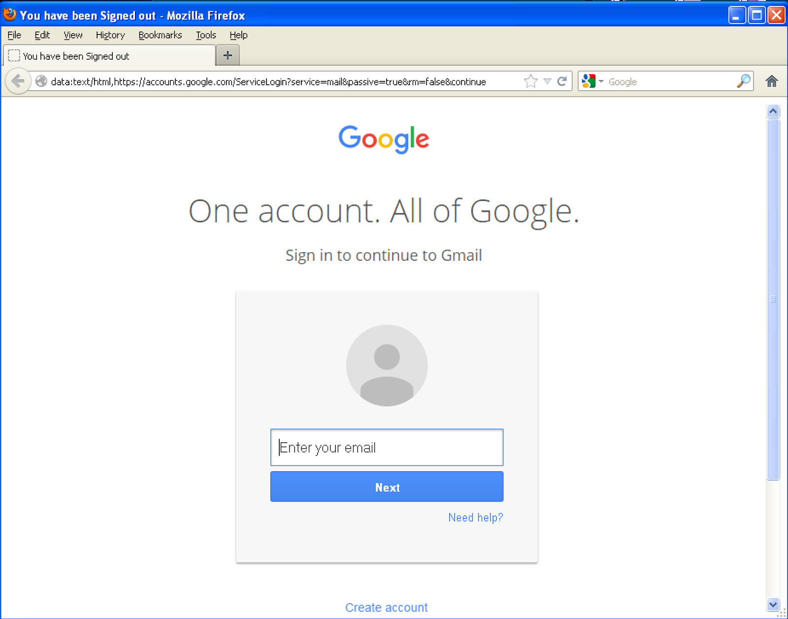 It looks pretty legit however looking at the address bar it does seem a bit off Also note NOT using SSL Typically signing into your Google Account