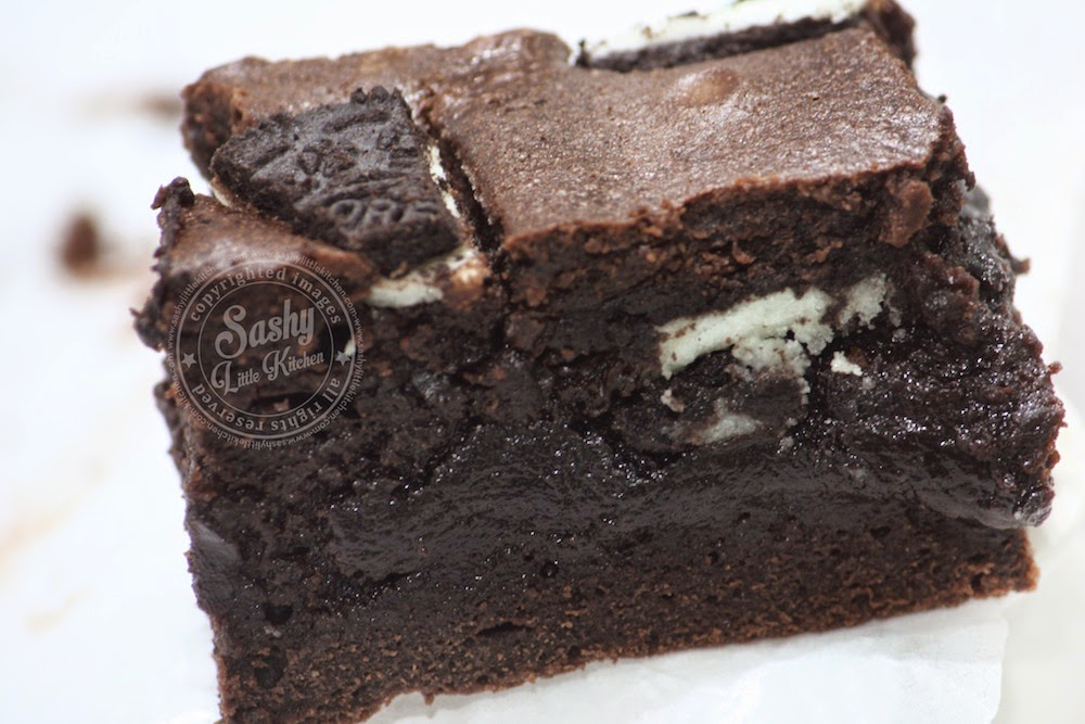 oreo brownies   sashy little kitchen home cooking and