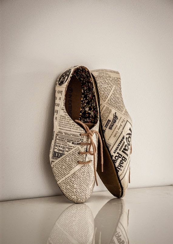 Newspaper Oxford shoes