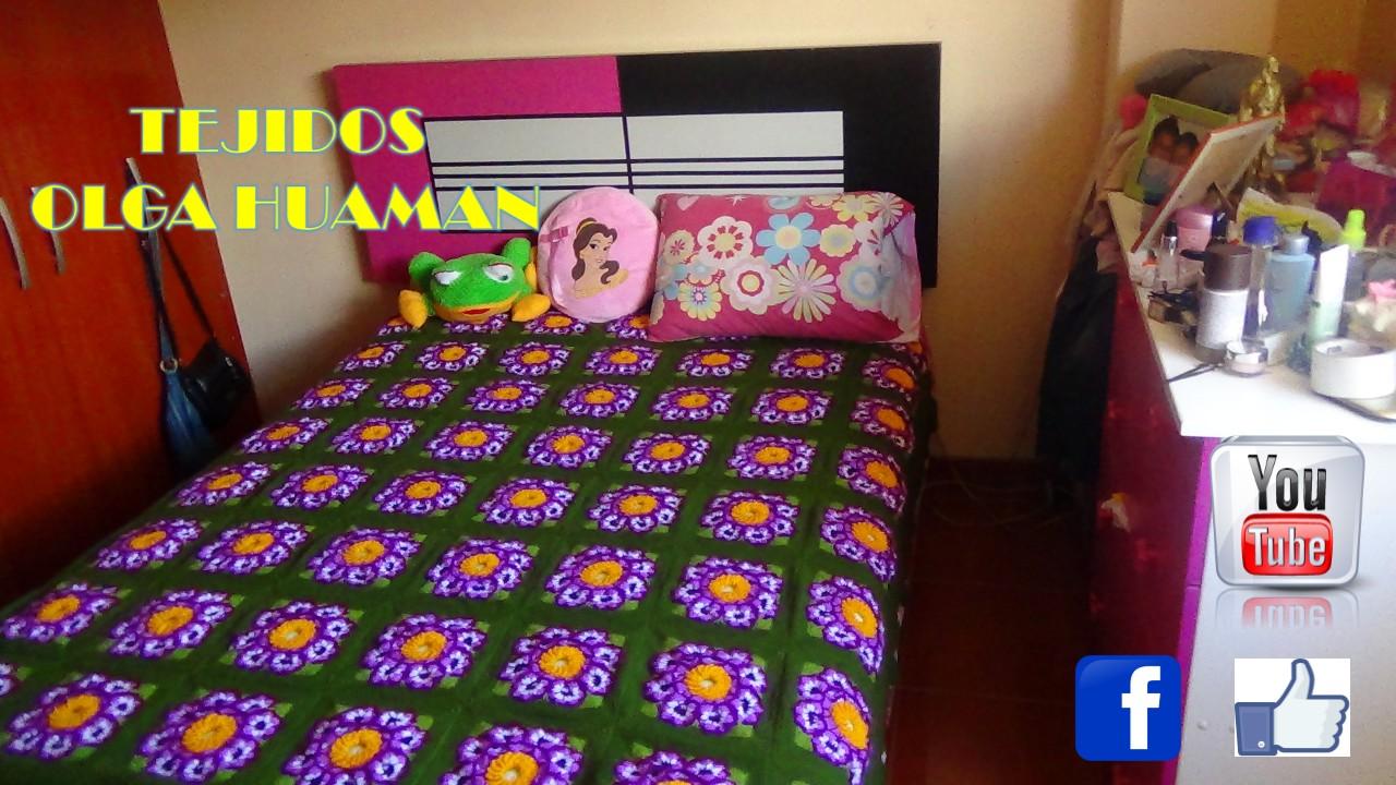 Tejidos olga huaman colchas tejidos a crochet para camas - Imagenes de colchas para camas ...