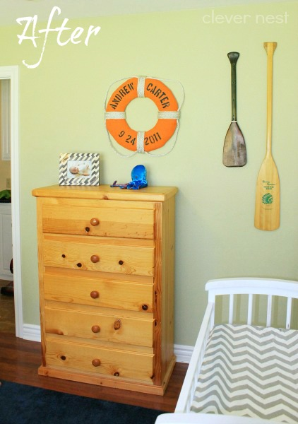 Nautical Boy's room reveal, tour #ocean #chevron