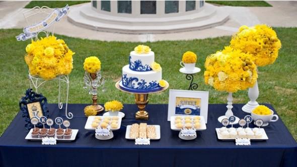 decoracao para casamento em azul e amarelo:Stern Eventos: Decoração Azul, branco e amarelo