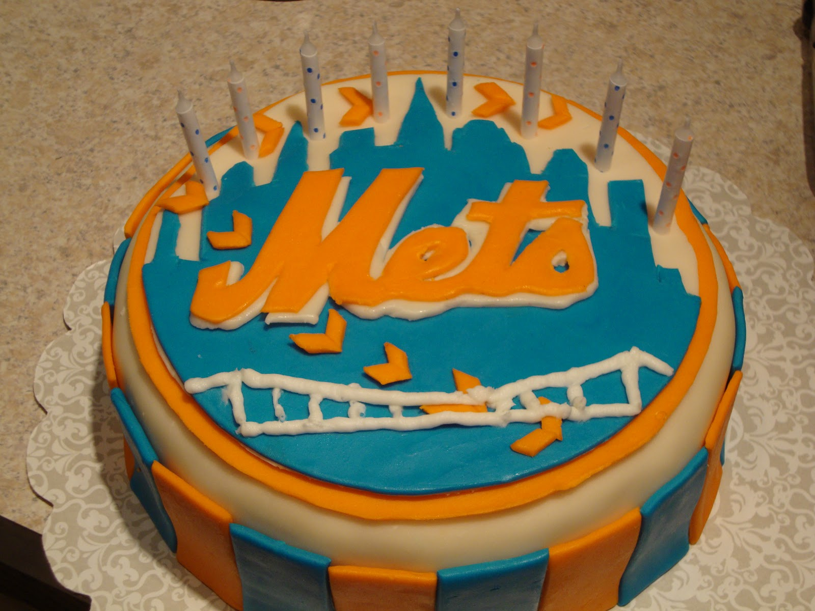 I Made Orange And Blue Stripes On The Side Of Cake To Add A Finishing Touch Think Came Out Pretty Good