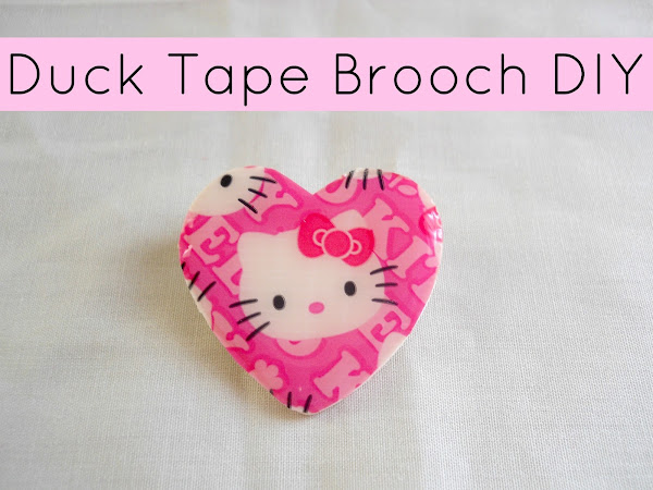 Duct Tape Brooch DIY