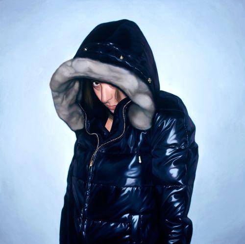 Jeff Ramirez pinturas hiper-realistas pessoas tímidas escondendo rosto fotos paparazzi