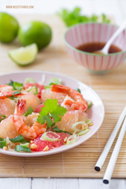 Pomelo Salat asiatisch mit Garnelen Rezept #pomelo #garnelen #asiatisch #salat