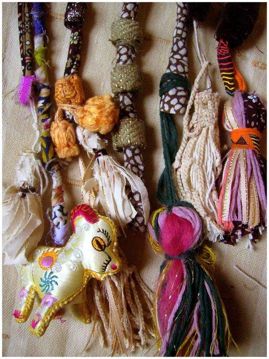 For sale tiras de tela hechas a mano llenas de - Cortinas hechas en casa ...