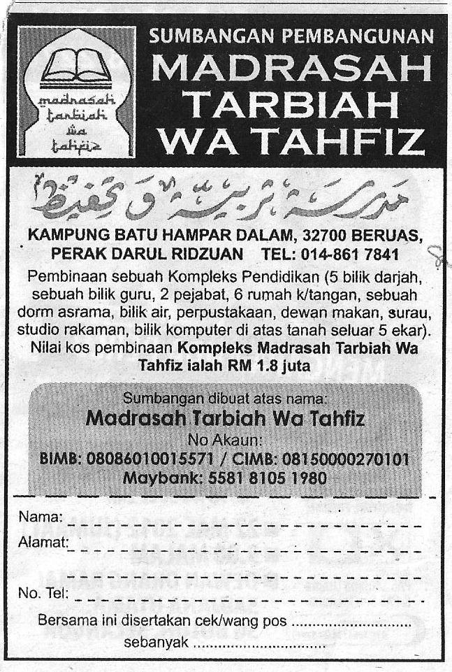 Madrasah Tarbiah Wa Tahfiz - Beruas, Perak