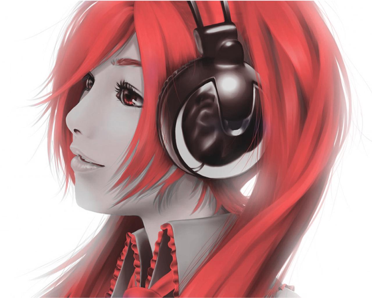 Anime Headphones HD wallpaper | anime | Wallpaper Better