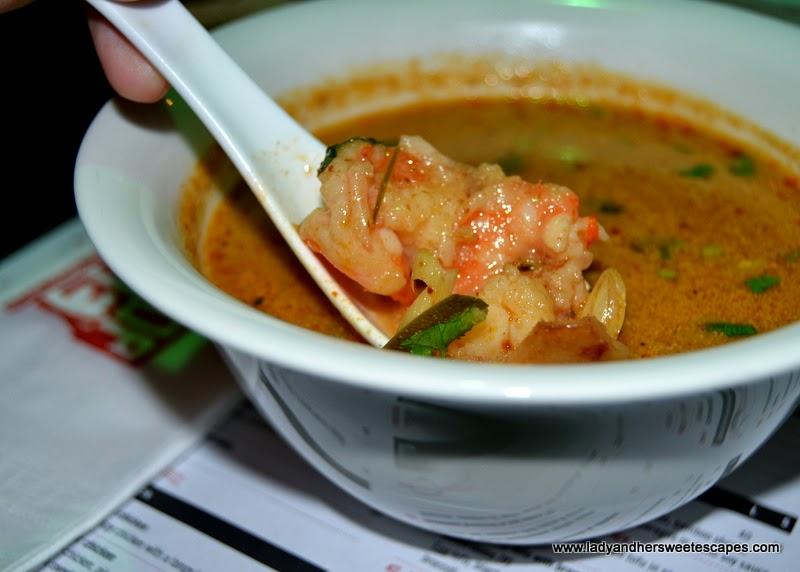 Chop Suey restaurant's Tom Yum goong soup