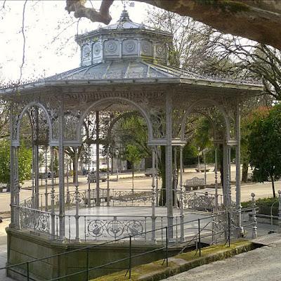 Bandstand- Parque Alameda en Santiago de Compostela.