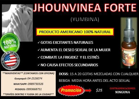 JHOUNVINEA FORTE: ESTIMULANTE SEXUAL