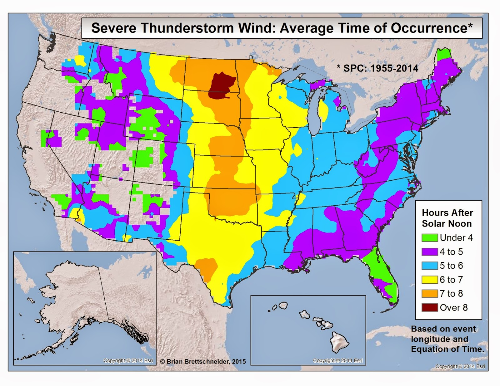 Brian Bs Climate Blog Severe Weather Time of Day