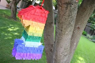 festa a tema arcobaleno tutorial pinata