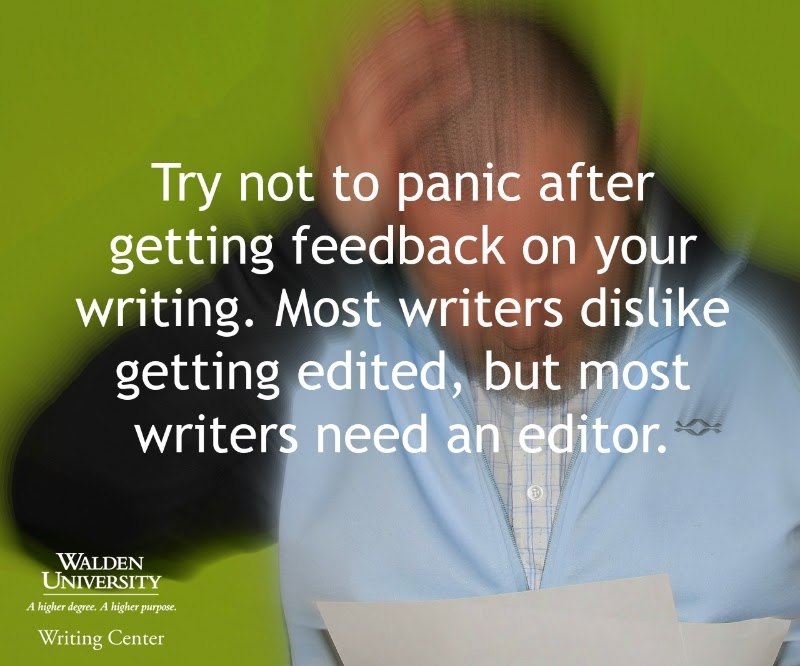 Writing tip from the Walden University Writing Center blog