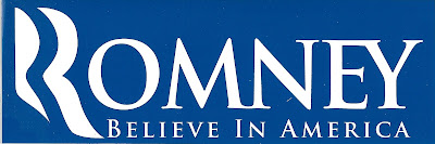 Romney, Believe in America Bumper Sticker