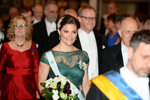 Crown Princess Victoria of Sweden attended the annual celebration of The Royal Swedish Academy of Letters, History and Antiquities at the The House of Nobility in Stockholm,