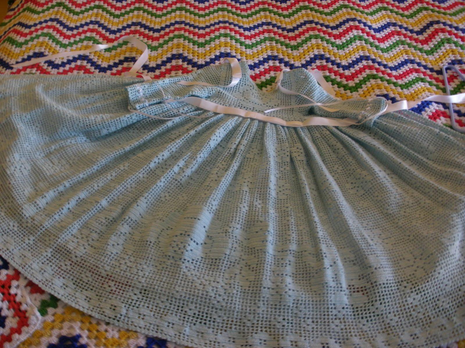 CROCHET DE ANTONIA: vestido crochet niña de 3 a 9 meses y faldon bebe