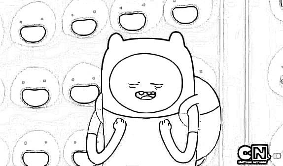 Dibujos de Finn para Colorear y pintar de Hora de Aventura ~ Dibujos ...