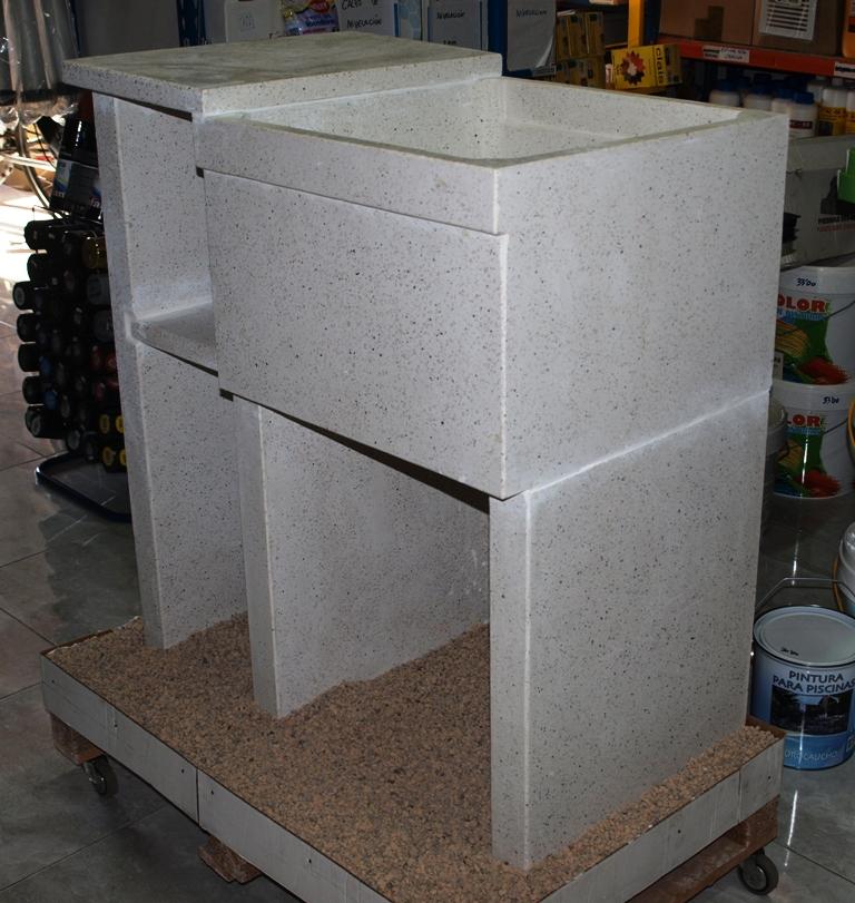 Materiales renau sl lavaderos y fregaderos de granito for Lavadero de bano precio