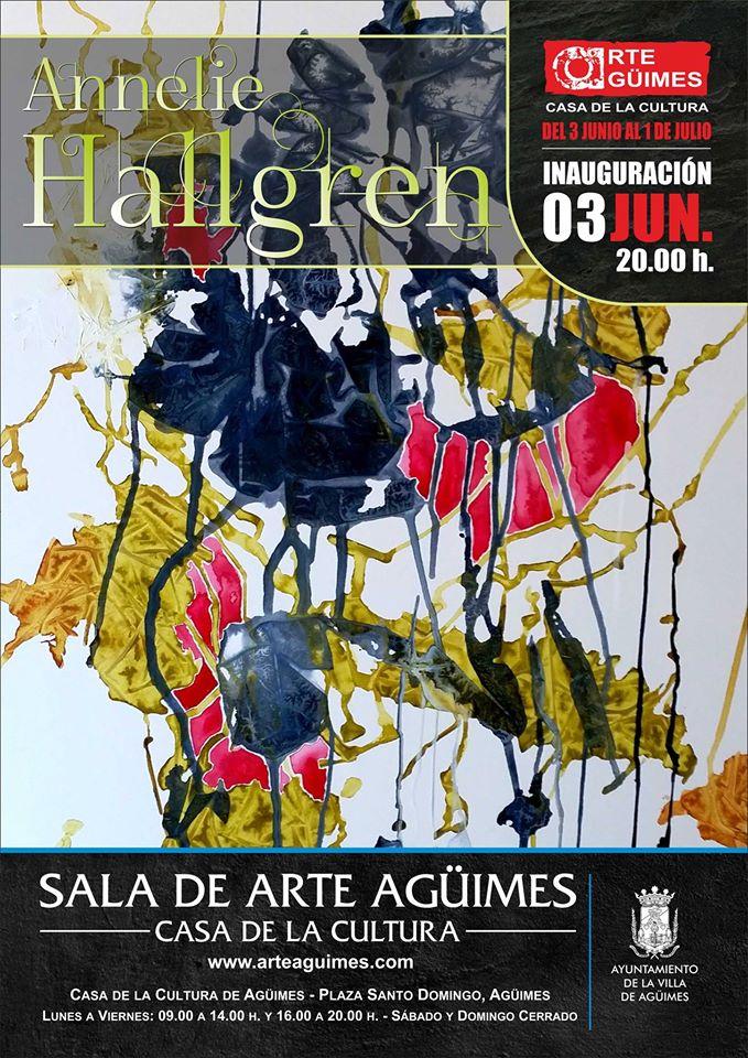 Exposición de Annelie Hallgren en la Sala de Arte Agüimes