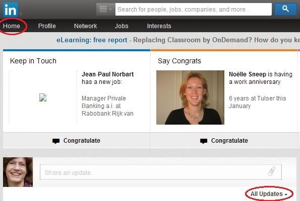 LinkedIn weergaven updates stap 1