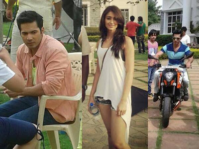 Varun Dhawan and Ileana D'Cruz on the sets of Main Tera Hero